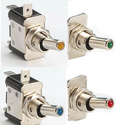 ON/OFF AMBER LED TOGGLE SWITCH - LUCAR CONNECTIONS -25 amp