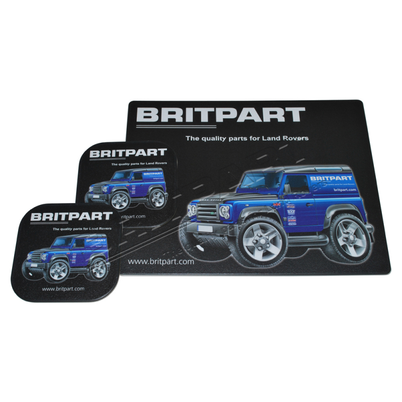BRITPART MOUSE & COASTER SET