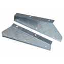 PAIR OF GALV FRONT MUDFLAP BRACKETS