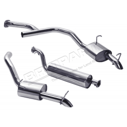 EXHAUST RR 4.0-4.6 PETROL TWIN 97-02