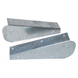 PAIR OF GALV REAR MUDFLAP BRACKETS