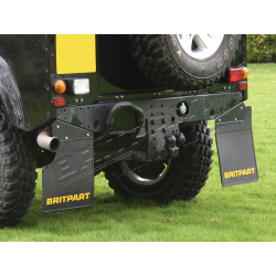 PAIR OF BRITPART MUDFLAPS (YELLOW LO