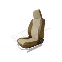 SEAT BASE BACK & HEADREST LH BROWN