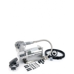 380C 200 PSI Chrome Compressor Kit (12V, 100% Duty @100 PSI, 55% Duty @200 PSI)