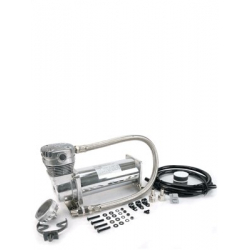 "480C 200 PSI Chrome Compressor Kit, 3/8"" Port (12V, 100% Duty @ 100 PSI, 50% Duty @200 PSI)"