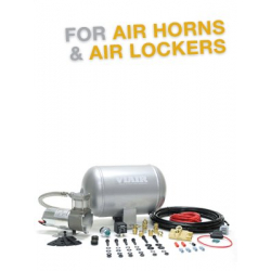 Ultra-Light Duty Onboard Air System (12V, 130 PSI Compressor, 1.0 Gal. Tank)