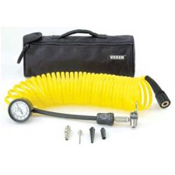 5-in-1 Deflator/Inflator, 25 Ft. Coil Hose, 100 PSI Inline Gauge, Bag