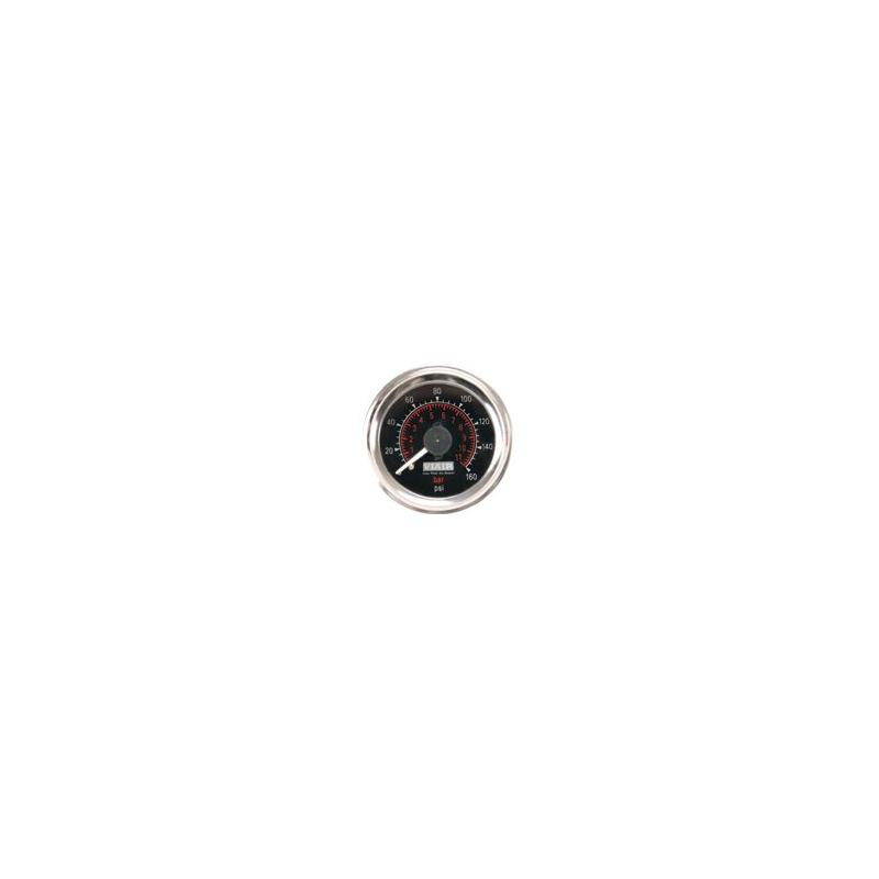 "2"" Dual Needle Gauge (Black Face, Illuminated, 160 PSI)"