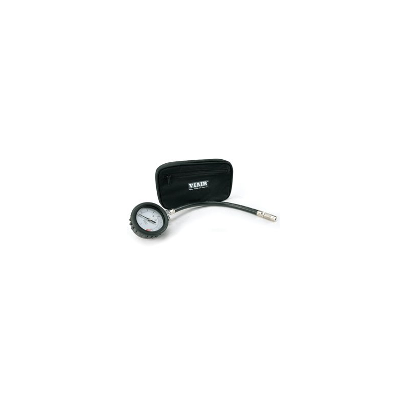 """2.5"""" Tire Gauge w/Hose (0 to 15 PSI, with Storage Pouch)"""