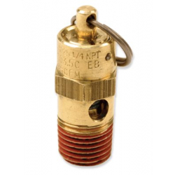 "250 PSI Hi-Temp Rated Safety Valve (1/4"" M, NPT)"