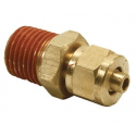 """1/4"""" Male NPT to 1/4"""" Compression Fitting (for 1/4"""" Air Line)"""