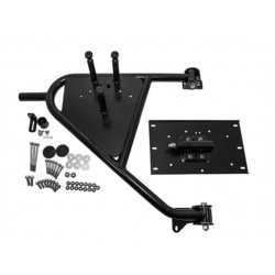 Swing away rear door mount spare wheel carrier